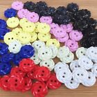 fluted edge buttons 15mm (size 24) diameter  pink blue red lemon white & cream