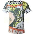 Mens Soulstar Comic Strip Blondie Sublimation Graphic Print T-Shirt Size
