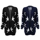 Soft Collarless Long Sleeve Knitted Loose Women Cardigan Cape Outerwear f Ladies
