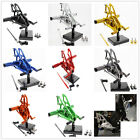CNC Rearset Footrest Footpegs For Yamaha YZF R15 2012 2013 2014 2015 Aluminum