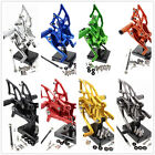 CNC Billet Rearset Footrest Foot Pegs Pedals Adjustable For Yamaha YZF MT3 MT-3
