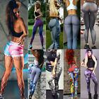 Women's Printed Yoga Fitness Leggings Running Gym Stretch Sports Pants Trousers