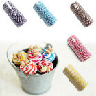 100Yard Cotton Bakers Twine Stripe Line Wedding Party Gift Craft SupplY  New UK