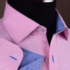 Pink Houndstooth Men's Formal & Business Dress Shirt Plaids & Checks Hot Gingham