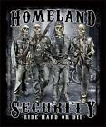Homeland Security Biker Ride Hard or Die  jumbo Print T Shirt   SHIPS FAST