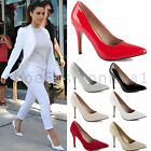 LADIES WOMENS MID STILETTO POINTED  HIGH HEELS PARTY PUMPS COURT SHOES SIZE