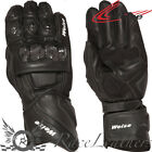 WEISE ROMULUS BLACK CE APPROVED LEATHER MOTORCYCLE MOTORBIKE BIKE GLOVES