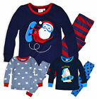 Boys Christmas Pyjamas New Kids 100% Cotton Long Sleeved PJ Set Ages 2-13 Years