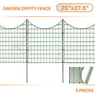 5pcs Green Zippity Garden Fence Picket Metal Lattice Meta...