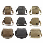 Men's Canvas Military Messenger Shoulder Travel Bags Hiking Small Bags