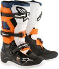 ALPINESTARS TECH 7S YOUTH BOOTS ORANGE BLUE BLACK WHITE NEW KIDS JUNIOR MX CHEAP