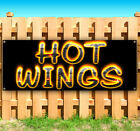HOT WINGS BBQ Advertising Vinyl Banner Flag Sign Many Sizes Available
