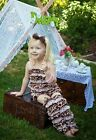Baby Girls Light Pink Giraffe Romper Lace Leg Warmers Party Outfit NB-3Y