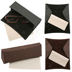 Synthetic Leather Fashion Eyeglasses Case with Cleaning Cloth for Myopia Glasses