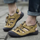 Men's Synthetic Leather Fisherman Beach Summer Sports Sandals Waterproof Shoes