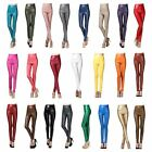 Women High Waist Faux Leather Stretch Workout Pencil Pants Party Causal Leggings