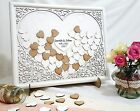 Filigree Heart Wedding Guest Book Drop Box/Personalised Frame + Stand & Hearts