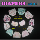 "DIAPER Lot of 2 - 10"" 12"" 14"" or 16"" Baby Doll Handmade by the Crafty Grandmas"