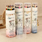 New 12,18,24,36 Colored Pencils Set Baby Children Drawing With Sharpener AH004