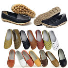 Women's Flat Comfort Leather Loafers Casual Boat Shoes Ladies Comfy Breath New