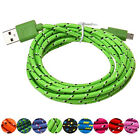 2/3M Braided Micro USB Charger Charging Sync Data Cable Cord for Cell Phone Hot