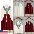 Stylish Women Summer Vest Top Sleeveless Shirt Blouse Casual Tank Tops T-Shirt