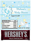 24 BABY SHOWER CANDY BAR WRAPPERS HERSHEY WRAPPERS blue feet