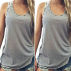 Fashion Women Summer Lace Vest Top Sleeveless Casual Tank Blouse Tops T-Shirt SM