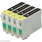 4 x Black Ink Cartridges Non-OEM Alternative For Canon CLI-8BK, CLI-8B, CLI-8