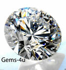 5 x LAB CREATED DIAMOND ROUND STONE 1MM - 10MM FAST & FREE DELIVERY