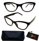 Vintage Retro Women Designer Fashion Cateyes Black Red Reading Glasses Readers