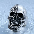 New Man's Stainless Steel ring Artistic Skull Titanium steel Rings A409