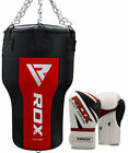 RDX Heavy Filled Punch Bag Angle Body Boxing Gloves Upper Cut MMA Muay Thai F10