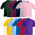 Fruit of The Loom Kids Boys Girls Childrens School Plain Polo Shirt