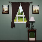 "Fabric Bathroom Window Curtain Lauren Diamond Pattern W/Tiebacks 34""x54"""
