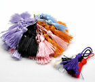 100 X SILKY COTTON TASSELS-CARDMAKING-SEWING-13.5cm TRADITIONAL COLOURS
