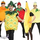 Adults Mens Ladies Fruit Food Tunic Fancy Dress Novelty Costume Outfit With Hat