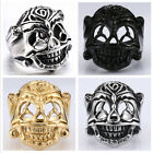 Man's Stainless Steel Ring The Expendables Lucky Skull Titanium Steel Rings A322