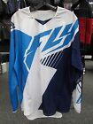 FLY KINETIC MEN'S JERSEY WHITE AQUA AND NAVY SIZE SMALL AND LARGE  #369-521S,L