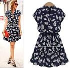 Women Fashion Feather Casual Evening Cocktail Party Dress Summer Plus Dress