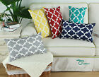 "12x20"" CaliTime Quatrefoil Geometric Cushion Cover Pillows Shell Home Sofa Decor"