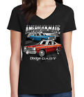 Dodge Dart Ladies V- Neck T-shirt Chrysler American Made Car Tee - 1542C $15.15 USD