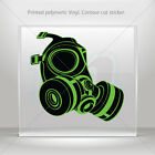 Decal Stickers Gas Mask Helmet Atv Bike polymeric vinyl Garage st5 RSX66