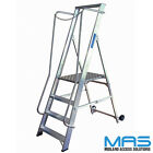 Lyte Aluminium Wide Step Class 1 Industrial Aluminium Work Platform Step Ladder