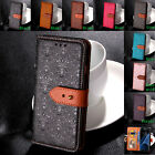 Luxury Flip Cover Stand Wallet Genuine Leather Case For LG Huawei Phones Protect