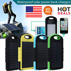 10000mAh Portable Waterproof Solar Charger Dual USB External Battery Power Bank