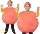 CHILDS BIG PEACH PLUSH WORLD BOOK DAY CHARACTER UNISEX FANCY DRESS FRUIT COSTUME