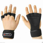 Gym Wrist Wrap Gloves Dumbbell Weight Lifting Health Fitness Training ( Black )