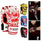 2016 Muay Thai Sanda MMA PU Boxing Punch Training Half Hand Gloves Fight Boxeo