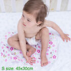 80x70cm Baby Bamboo Fiber Flannel Changing Mat Colorfast Waterproof Urine Pad